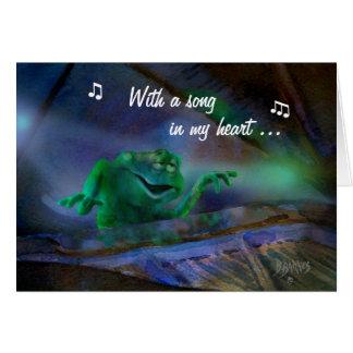 """Cartão """"Uma canção em meu coração """""""