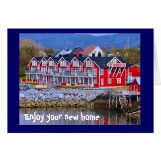 Cartão Uma casa pela água