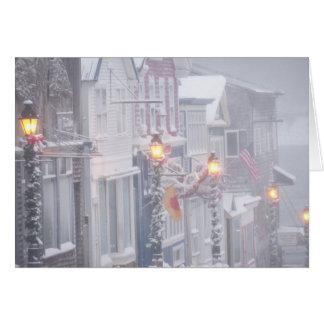 Cartão Uma cena do inverno