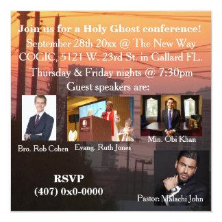 Cartão Uma conferência do espírito santo