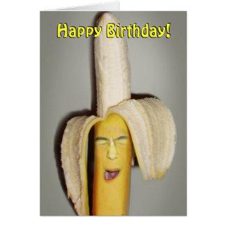 Cartão Uma dor de cabeça de rachadura da banana