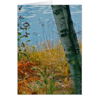 Cartão Uma escova com outono
