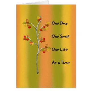 Cartão Uma etapa do dia um