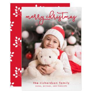 Cartão Uma foto simples do Feliz Natal |
