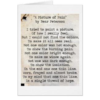 Cartão Uma imagem da dor