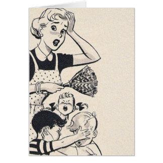 Cartão Uma mamã cansada,