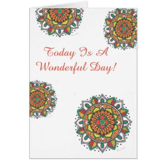 Cartão Uma mandala maravilhosa do feliz aniversario do