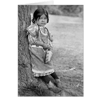 Cartão Uma menina de Umatilla
