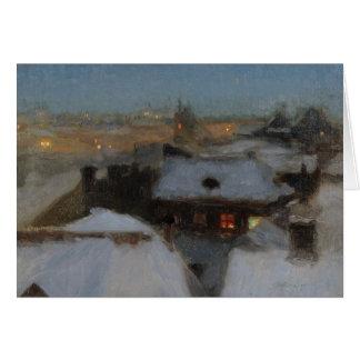 Cartão Uma noite invernal em Éstocolmo