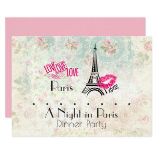 Cartão Uma noite no partido de comensal de Paris