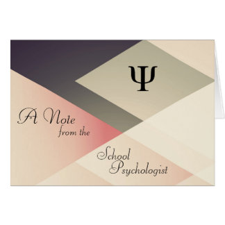 Cartão Uma nota do psicólogo da escola (cartões de nota)