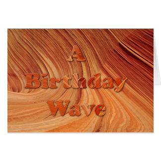 Cartão Uma onda do aniversário