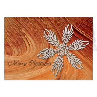 Cartão Uma onda do Natal