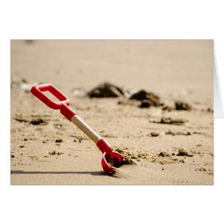 Cartão Uma pá da praia