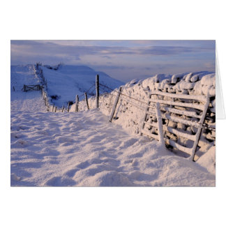 Cartão Uma paisagem do inverno de Cumbrian