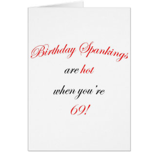Cartão Uma palmada de 69 aniversários