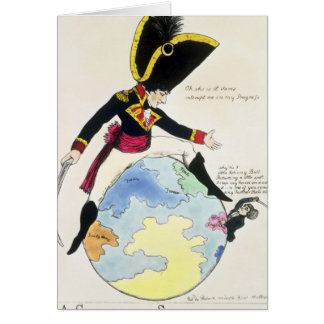 Cartão Uma parada a um passo sobre o globo, 1803