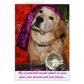 Cartão Uma previsão do aniversário