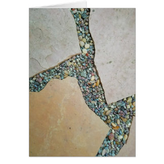 Cartão Uma rachadura no pavimento