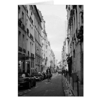 Cartão Uma rua no Marais, Paris, France