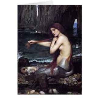Cartão Uma sereia por J W WaTERHOuSE, 1901