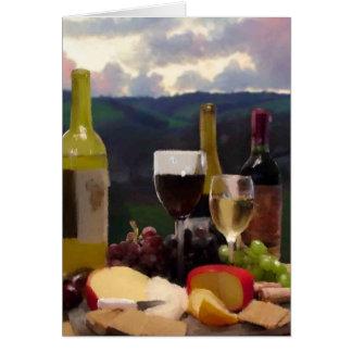 Cartão Uma tarde na região vinícola