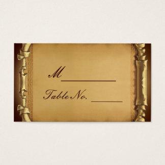 Cartão uma vez Wedding do lugar