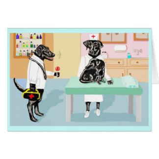 Cartão Uma viagem ao doutor amigável