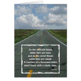 Cartão Uma viagem de umas 1000 milhas… (Laotse)