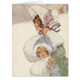 Cartão Uma visita do Natal por Agnes Richardson