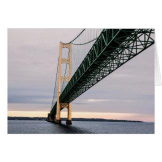 Cartão Uma vista da ponte de Mackinac do Lago Michigan 2