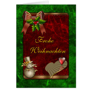 Cartão Und Herz do mit Schneemann do design de Weihnachts
