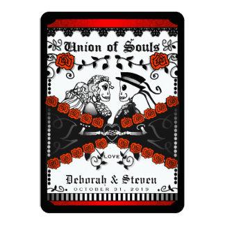 Cartão União branca vermelha preta das almas quarta-feira
