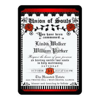 Cartão União branca vermelha preta das almas que Wedding