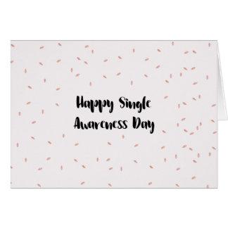 Cartão Único dia feliz da consciência