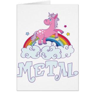 Cartão Unicórnio do metal
