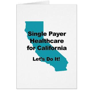 Cartão Únicos cuidados médicos do pagador para Califórnia