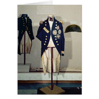 Cartão Uniforme naval real vestido