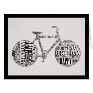 Cartão unisex da bicicleta da tipografia do feliz