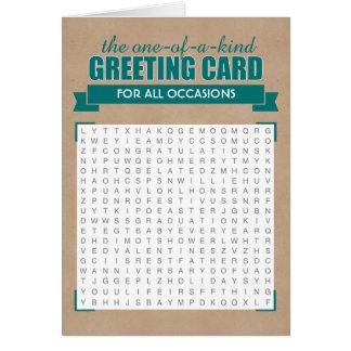 Cartão universal da busca da palavra