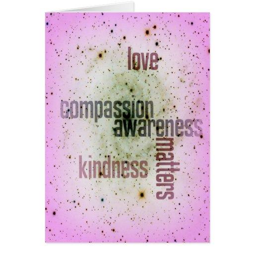 Cartão universal do amor das matérias da bondade