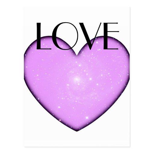 Cartão universal do amor do coração cartao postal