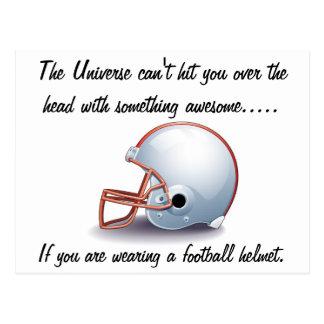 Cartão universal do capacete de futebol cartão postal