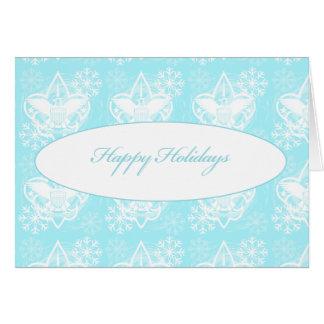 Cartão universal do emblema boas festas