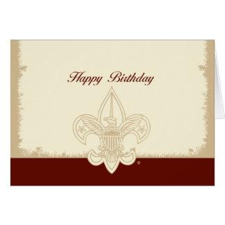 Cartão universal do feliz aniversario do emblema