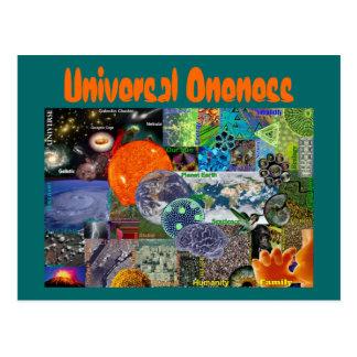 Cartão universal do Oneness Cartão Postal