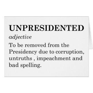 Cartão Unpresidented
