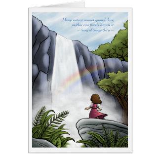Cartão Unquenchable do amor do deus