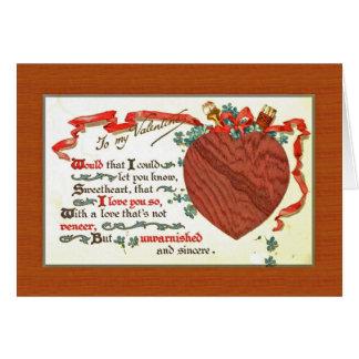 Cartão uns namorados do carpinteiro do woodworker com