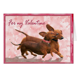 Cartão Uns namorados do dachshund - Lets vai jogo!